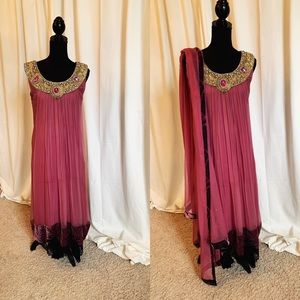 Dresses & Skirts - Pakistani Outfit in purple and gold